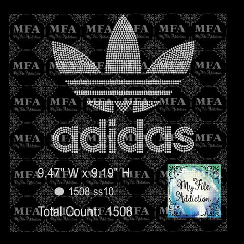 Adidas Rhinestone Digital Download File - My File Addiction