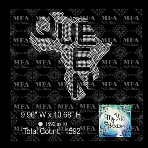 Africa Queen Rhinestone Digital Download File - My File Addiction