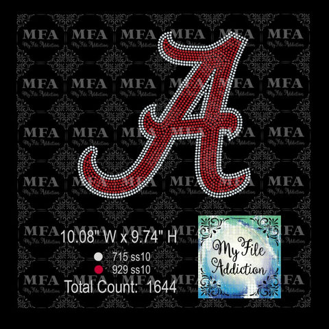 Alabama A Rhinestone Digital Download File