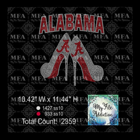 Alabama Stilettoes Rhinestone Digital Download File