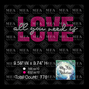 All You Need Is Love Rhinestone Digital Download File - My File Addiction