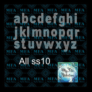Arial 3 Rows Lower Rhinestone Digital Download File - My File Addiction