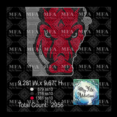 Arkansas Razorbacks Rhinestone Digital Download File - My File Addiction