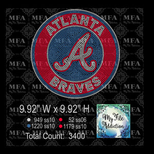 Atlanta Braves 2 Rhinestone Digital Download File - My File Addiction