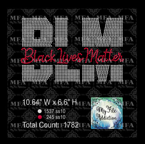 BLM Black Lives Matter Rhinestone Digital Download File