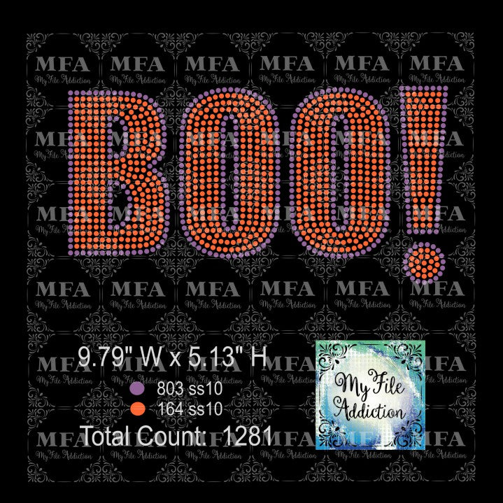 Boo Rhinestone Digital Download File - My File Addiction