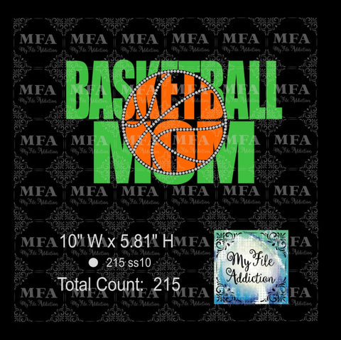 Basketball Mom Knockout Rhinestone & Vector Digital Download File