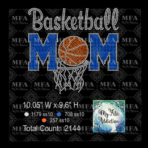 Basketball Mom Rhinestone Digital Download File - My File Addiction