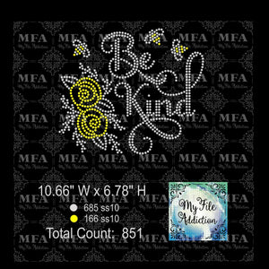 Be Kind 1 Rhinestone Digital Download File