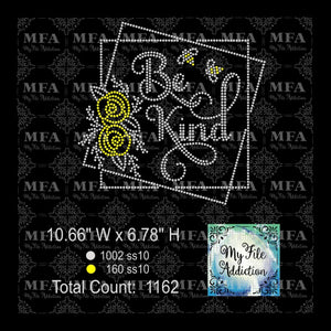 Be Kind 2 Rhinestone Digital Download File