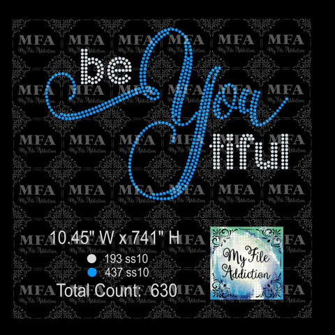 Be You tiful BeYoutiful 2 Rhinestone Digital Download File