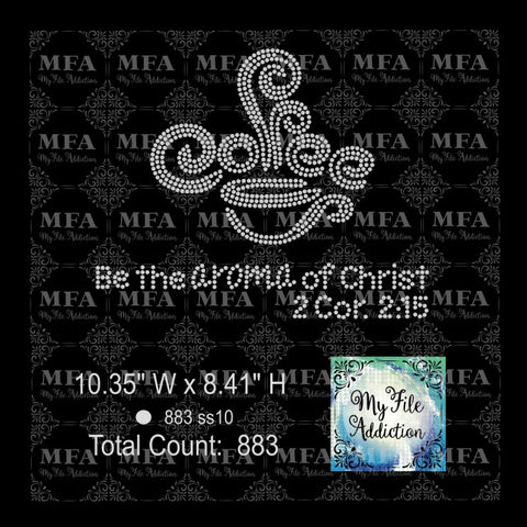 Be the Aroma of Christ Rhinestone Digital Download File - My File Addiction