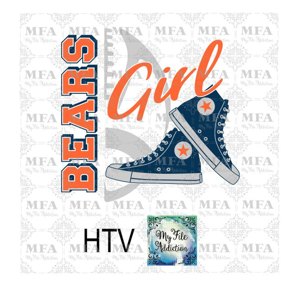 Bears Football High Tops Rose Wine High Heel Shoe Vector Digital Download File - My File Addiction