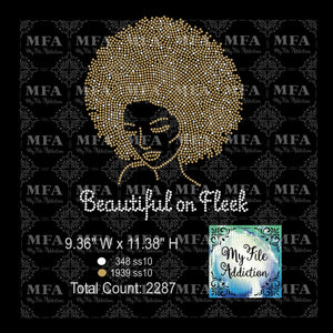 Beautiful on Fleek Rhinestone Digital Download File - My File Addiction