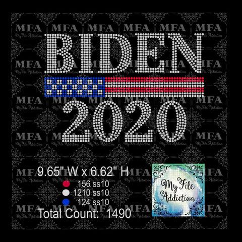Biden 2020 Rhinestone Digital Download File - My File Addiction