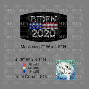 Biden 2020 Small Rhinestone Digital Download File