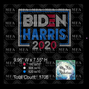 Biden Harris 2 2020 Rhinestone Digital Download File
