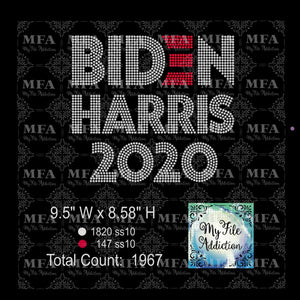 Biden Harris 2020 Rhinestone Digital Download File