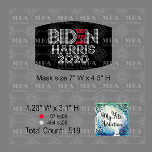 Biden Harris 2020 Small Rhinestone Digital Download File