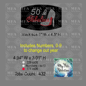 Birthday Number & Fabulous Small Rhinestone Digital Download