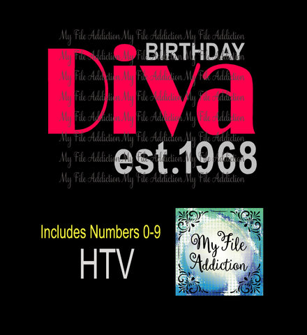 Birthday Diva Est Vector Digital Download File - My File Addiction