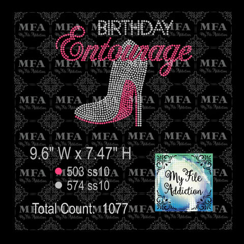Birthday Entourage 1 Rhinestone Digital Download File - My File Addiction