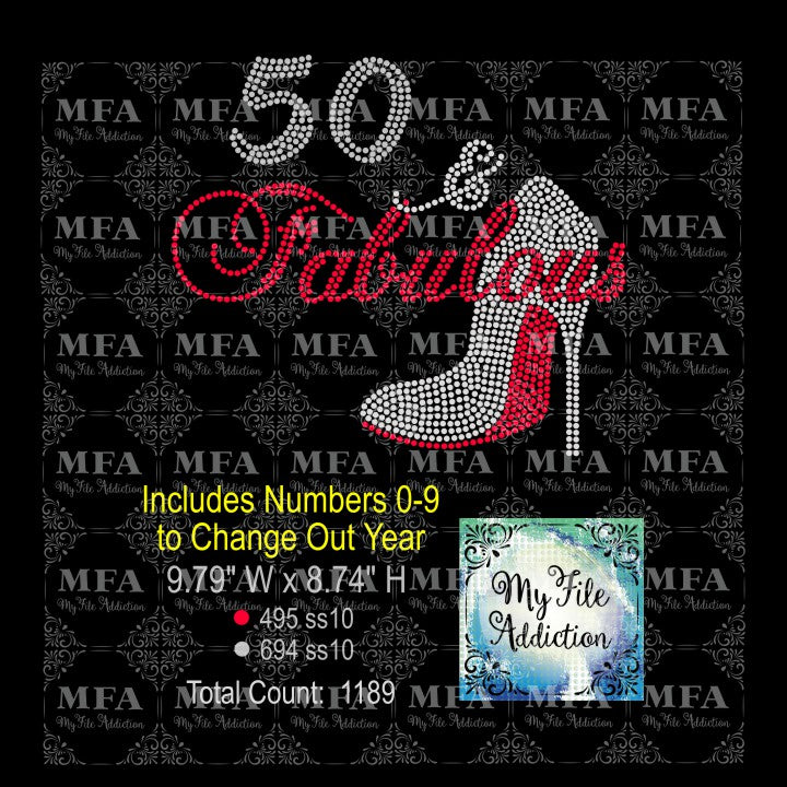 Birthday Number & Fabulous Rhinestone Digital Download - My File Addiction
