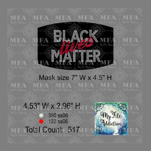 Black Lives Matter Small Rhinestone Digital Download File - My File Addiction