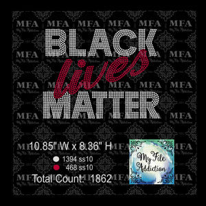 Black Lives Matter Rhinestone Digital Download File - My File Addiction