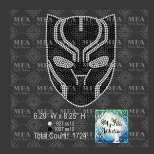 Black Panther Mask Rhinestone Digital Download File