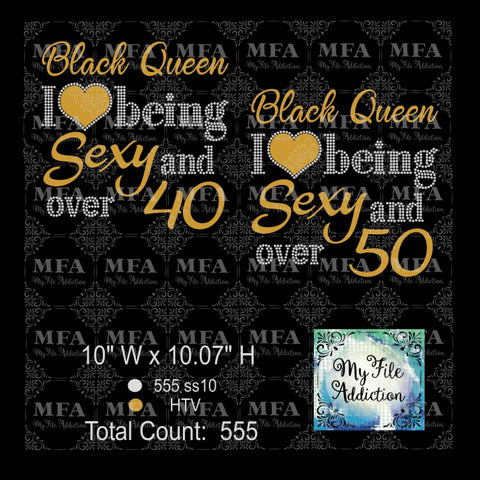 Black Queen Sexy and over 40 50 Rhinestone & Vector Digital Download File - My File Addiction