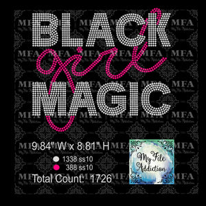 Black Girl Magic 4 Rhinestone Digital Download File