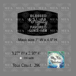 Blessed & Highly Favored Small Rhinestone Digital Download File