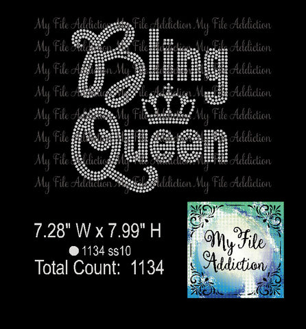 Bling Queen Rhinestone Digital Download File - My File Addiction