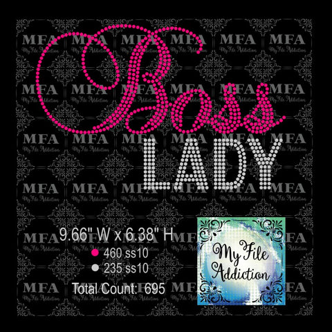 Boss Lady Rhinestone Digital Download File - My File Addiction