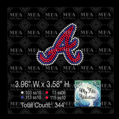 Braves Hat Rhinestone Digital Download File - My File Addiction