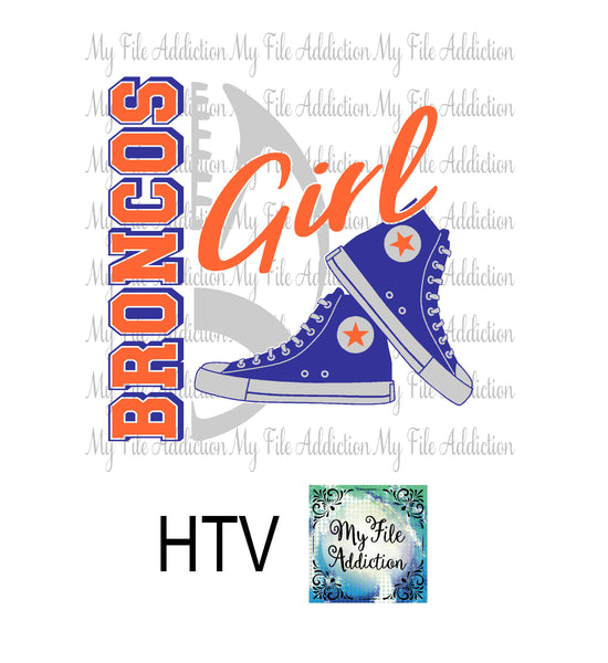 Broncos Football High Tops Rose Wine High Heel Shoe Vector Digital Download File - My File Addiction