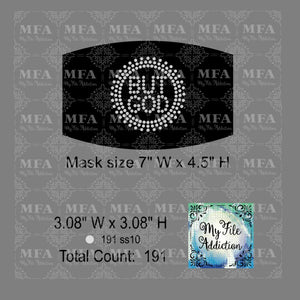 But God Small Rhinestone Digital Download File - My File Addiction