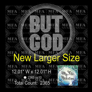 But God Large Rhinestone Digital Download File - My File Addiction