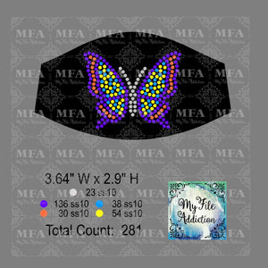 Butterfly 2 Small Rhinestone Digital Download File