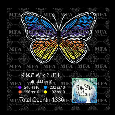 Butterfly 3 Rhinestone Digital Download File
