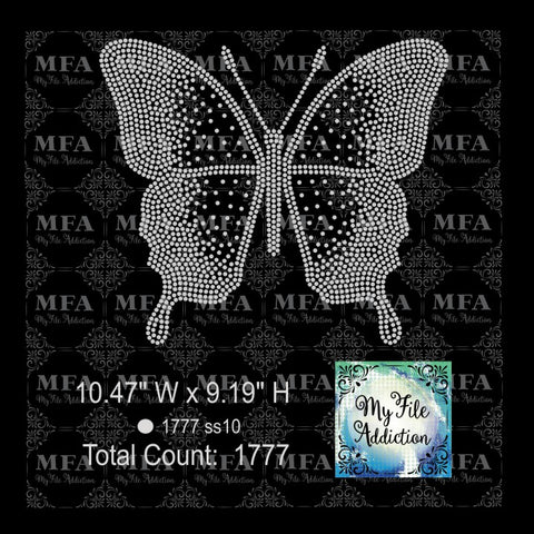 Butterfly 1 Rhinestone Digital Download File - My File Addiction