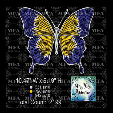 Butterfly 2 Rhinestone Digital Download File - My File Addiction