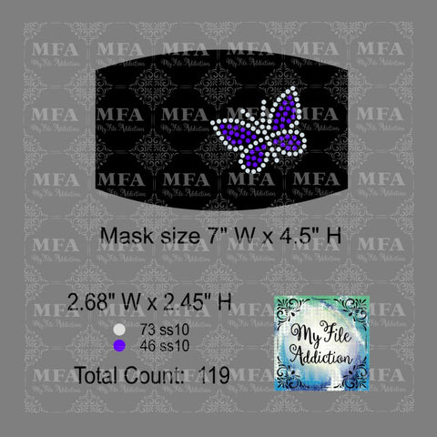 Butterfly Small Rhinestone Digital Download File