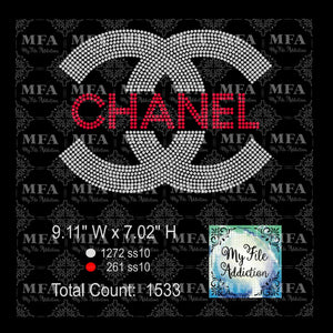 CC Chanel 2 Rhinestone Digital Download File - My File Addiction