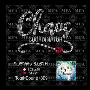 Chaos Coordinator Rhinestone Digital Download File - My File Addiction