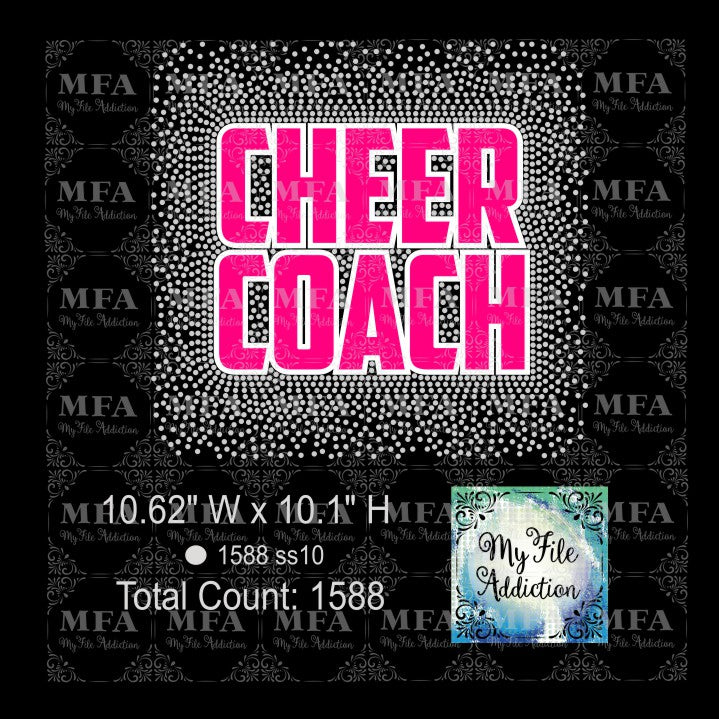 Cheer Coach Scatter Rhinestone & Vector Digital Download File - My File Addiction