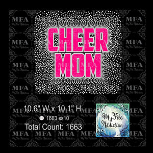 Cheer Mom Scatter Rhinestone & Vector Digital Download File - My File Addiction