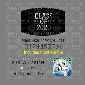 Class of with Numbers Small Rhinestone Digital Download File - My File Addiction