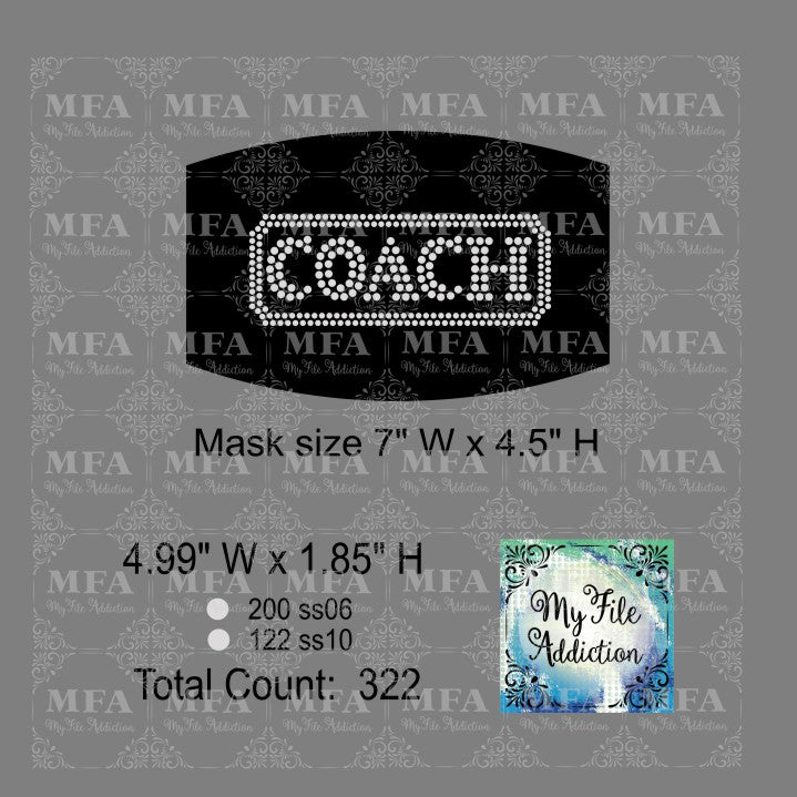 Coach Small Rhinestone Digital Download File - My File Addiction
